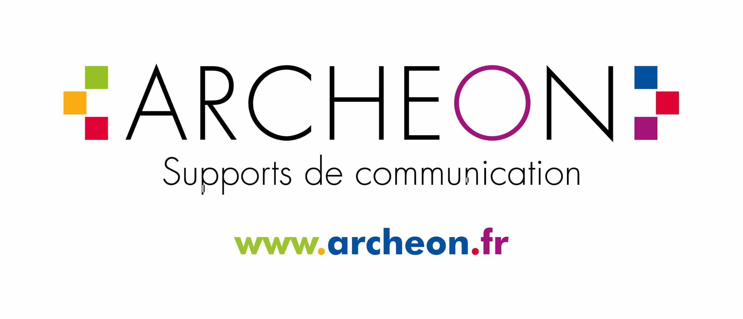 LOGO ARCHEON supports de communication objet media responsable utile original